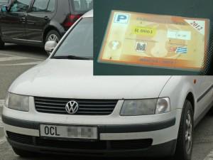 Parkovací karta R0061
