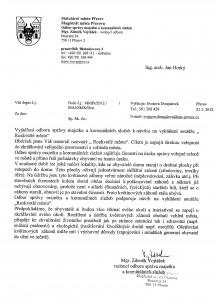 Vyjádření Odboru majetku MMPr k návrhu soutěže Rozkvetlé město